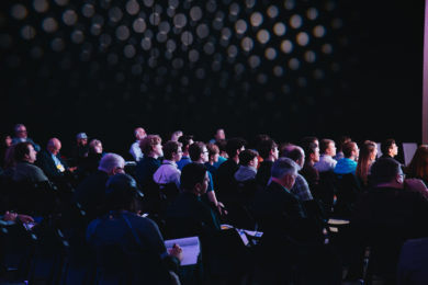 Conference crowd